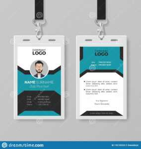 Creative Employee Id Card Template Stock Vector in Pvc Card Template