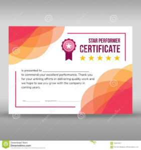 Creative Framed Pink And White Certificate Stock Vector within Star Performer Certificate Templates