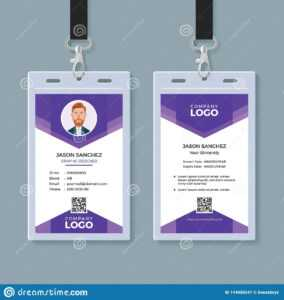 Creative Id Card Template Stock Vector. Illustration Of regarding Conference Id Card Template