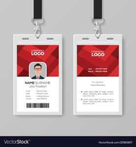 Creative Id Card Template With Abstract Red intended for Id Card Template Ai
