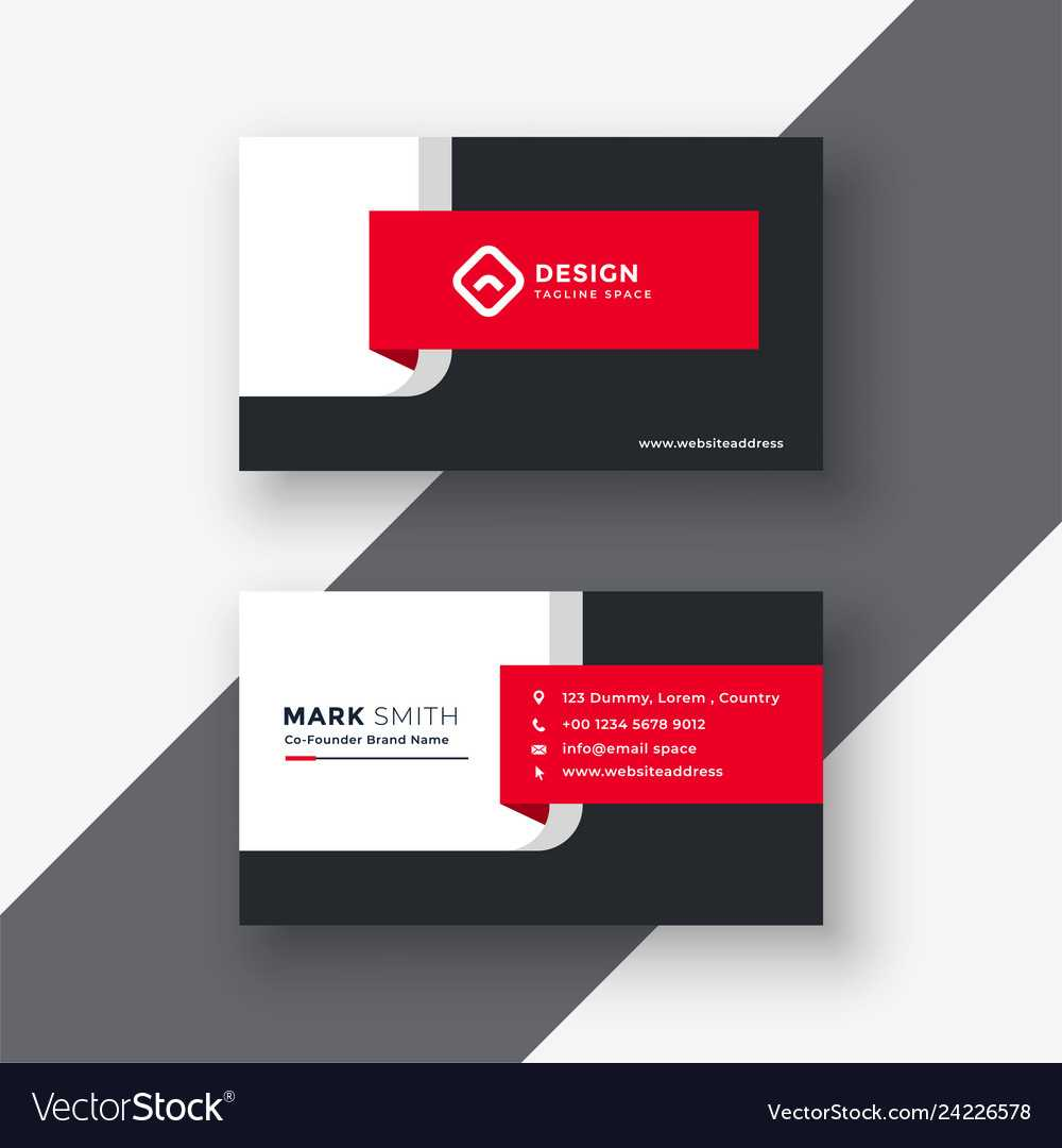 Creative Red Professional Business Card Template Throughout Professional Name Card Template