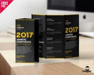 Creative Tri Fold Brochure Free Psd Template – Uxfree intended for Brochure Psd Template 3 Fold