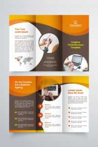 Creative Trifold Brochure Template. 2 Color Styles №80614 inside Three Panel Brochure Template