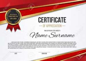 Creative Vector Illustration Of Stylish Certificate Template.. throughout Mock Certificate Template