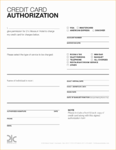 Credit Card Authorization Form – Fotolip with Credit Card Authorization Form Template Word