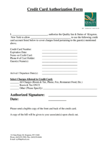 Credit Card Authorization Form Hotel – Fill Out And Sign Printable Pdf  Template | Signnow intended for Hotel Credit Card Authorization Form Template