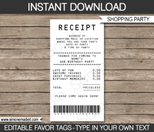 Credit Card Favor Tags Template within Credit Card Receipt Template