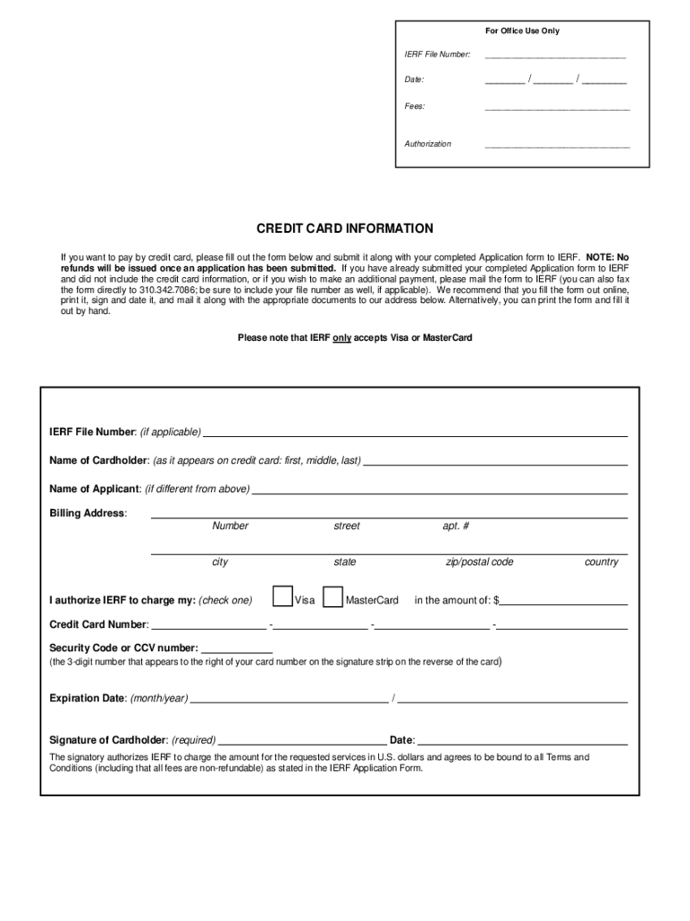 Credit Card Information Form - 2 Free Templates In Pdf, Word With Credit Card Size Template For Word