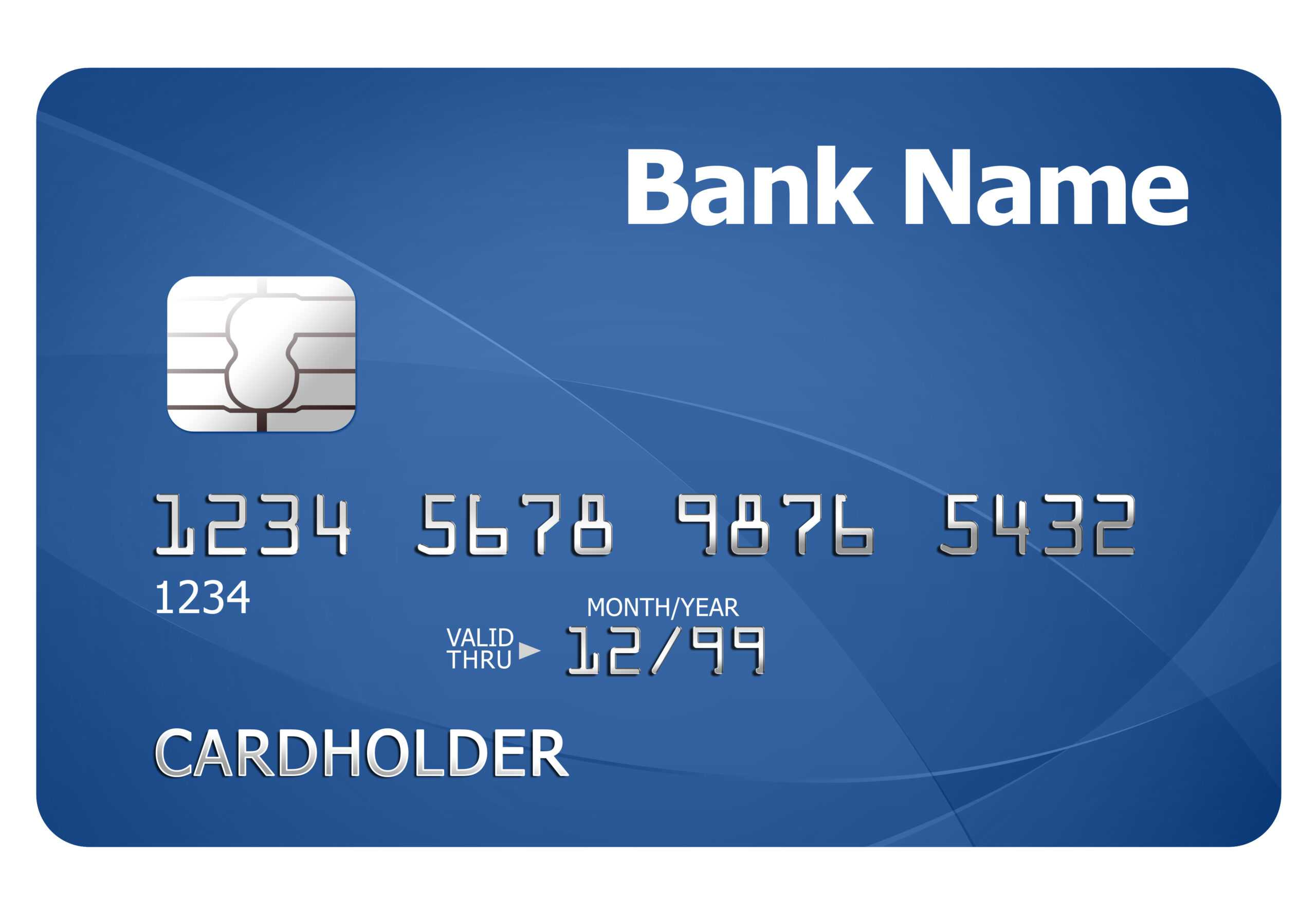 Credit Card Template | Psdgraphics Intended For Credit Card Template For Kids