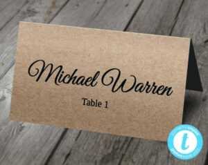 Custom 5 X 7 Table Tents Professional Quality Fast Tent with Free Template For Place Cards 6 Per Sheet