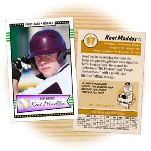 Custom Baseball Cards – Retro 50™ Series Starr Cards in Custom Baseball Cards Template