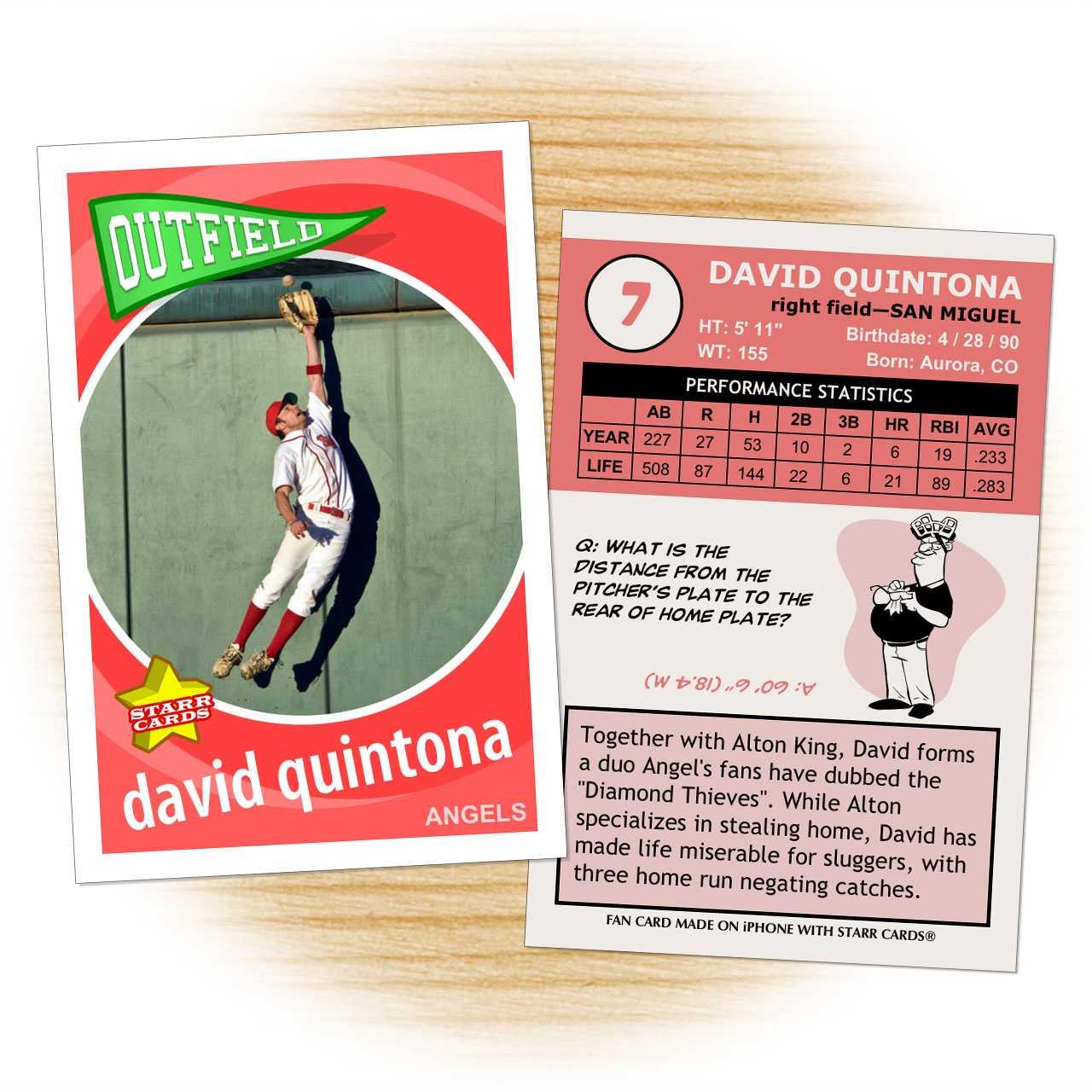 Custom Baseball Cards - Retro 60™ Series Starr Cards Regarding Custom Baseball Cards Template