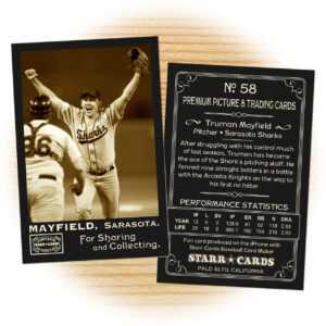Custom Baseball Cards – Vintage 95™ Series Starr Cards with Custom Baseball Cards Template