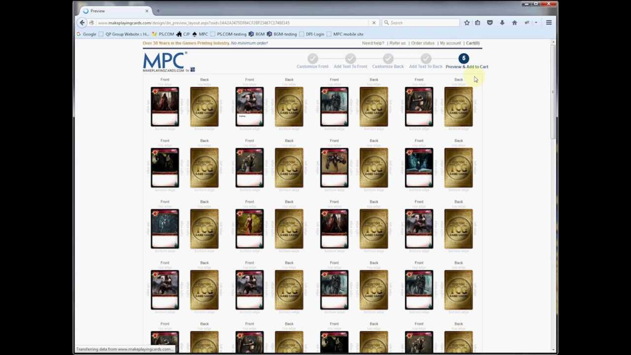 Custom Game Cards Pod Printing Throughout Card Game Template Maker