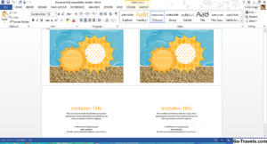 Как: Бесплатные Шаблоны Summer Summer От Microsoft – 2020 for Birthday Card Template Microsoft Word