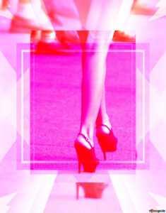 Скачать Бесплатно Картинку Women Feet Blank Design Card in High Heel Template For Cards
