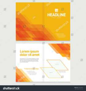 Стоковая Векторная Графика «Brochure Cover Inner Pages within Pages Business Card Template