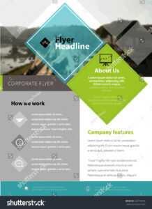 Стоковая Векторная Графика «Brochure Design Template Letter inside Letter Size Brochure Template