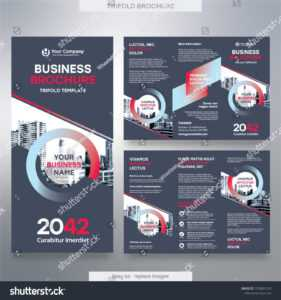 Стоковая Векторная Графика «Business Brochure Template Tri pertaining to Fold Over Business Card Template