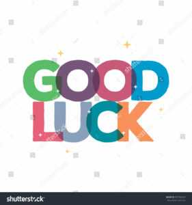 Стоковая Векторная Графика «Good Luck Typography Card for Good Luck Card Template