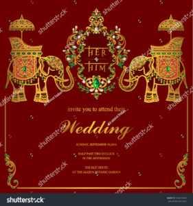 Стоковая Векторная Графика «Indian Wedding Invitation Card with regard to Indian Wedding Cards Design Templates