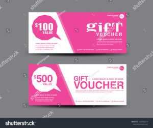 Стоковая Векторная Графика «Pink Gift Voucher Template with regard to Pink Gift Certificate Template