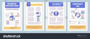 Стоковая Векторная Графика «Sports Nutrition Brochure for Nutrition Brochure Template