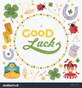Стоковая Векторная Графика «Vector Decorating Design Made with regard to Good Luck Card Template