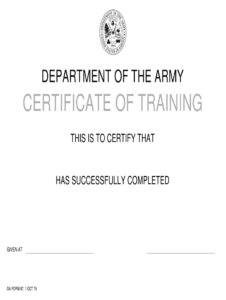 Da Form 87 – Fill Online, Printable, Fillable, Blank | Pdffiller throughout Army Certificate Of Completion Template