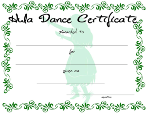 Dance Certificate | Templates At Allbusinesstemplates throughout Dance Certificate Template
