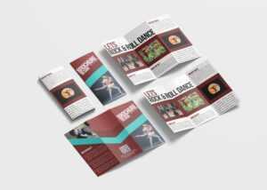 Dance School Tri-Fold Brochure Design Template – 99Effects within Tri Fold School Brochure Template