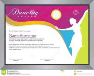 Dancing Award Stock Vector. Illustration Of Fashion – 102019388 inside Dance Certificate Template