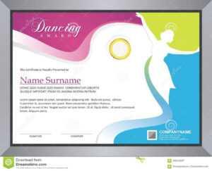 Dancing Certificate Stock Vector. Illustration Of Dancing within Dance Certificate Template