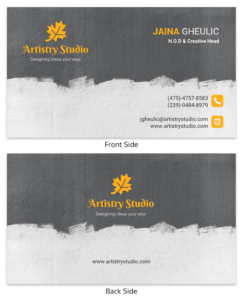 Dark Artist Business Card Template within Advertising Rate Card Template