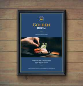 Dark Blue & Gold Fancy Restaurant Flyer Idea – Venngage with regard to Fancy Brochure Templates