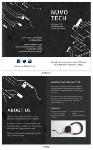 Dark Technology Product Bi Fold Brochure Template inside Technical Brochure Template