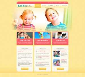 Day Care Responsive WordPress Theme regarding Play School Brochure Templates