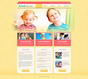 Day Care Responsive WordPress Theme with regard to Daycare Brochure Template