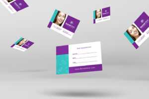 Dental Clinic Appointment Card Template In Psd, Ai & Vector intended for Dentist Appointment Card Template