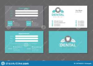 Dentist Business Card Template Set Editorial Stock Image inside Dentist Appointment Card Template