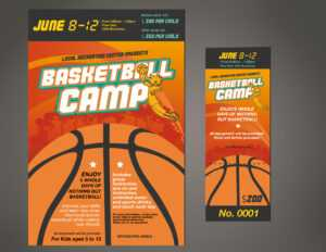 Designcontest – Basketball Camp Ticket & Poster intended for Basketball Camp Brochure Template