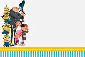 Despicable Me: Invitations And Party Free Printables. – Oh inside Minion Card Template