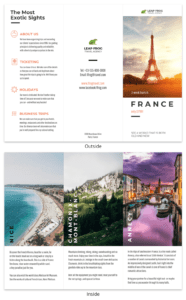 Destination Travel Tri Fold Brochure regarding Travel And Tourism Brochure Templates Free
