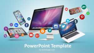 Digital Business & Social Media – Powerpoint Template intended for Multimedia Powerpoint Templates