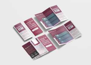 Digital Marketing Business Tri-Fold Brochure Design Template inside 4 Fold Brochure Template Word