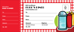 Diner Gift Certificate with regard to Restaurant Gift Certificate Template