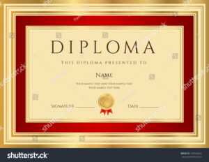 Diploma Certificate Template Guilloche Pattern Red Stock with First Place Certificate Template