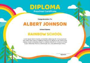 Diploma Preschool Certificate Template – Download Free pertaining to Choir Certificate Template