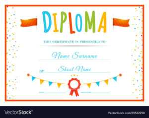 Diploma Template For Kids throughout Preschool Graduation Certificate Template Free