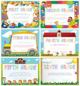 Diploma Templates For Primary School – Download Free Vectors within 5Th Grade Graduation Certificate Template